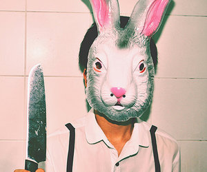 bunny, knife, and mask image
