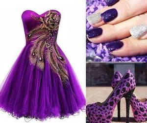 dress, purple, and nails image