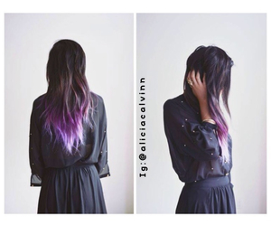 blackhair, tumblr, and dipdyed image