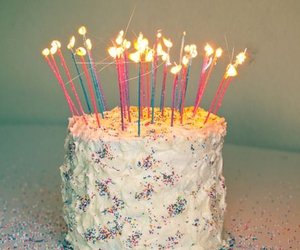 cake, birthday, and candle image
