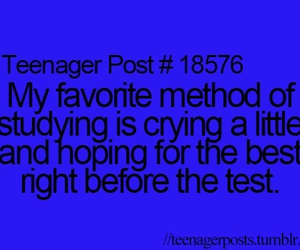 cry, test, and teenager post image