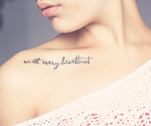 tattoo, heartbeat, and quotes image