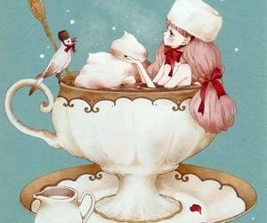 cream, girl, and kawaii image
