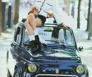chanel, kate moss, and car image