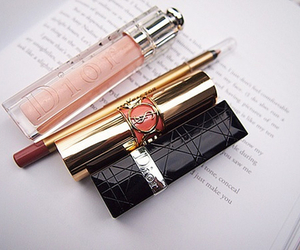dior, lipstick, and makeup image