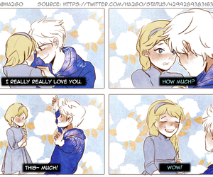love, elsa, and jelsa image