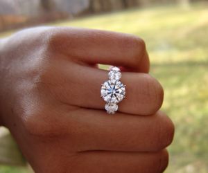 accessories, wedding, and engagement ring image