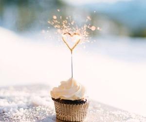 cupcake, heart, and food image