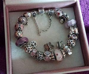 charms, pandora, and pink image