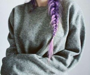 hair, purple hair, and style image