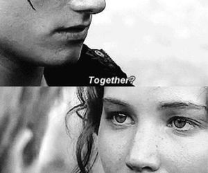 love, together, and the hunger games image