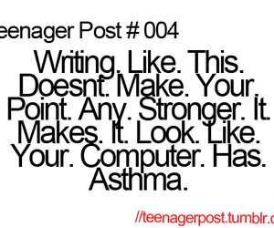 teenager post, funny, and computer image