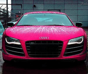audi, voiture, and rose image