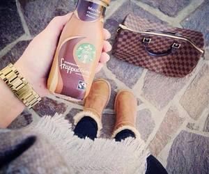 frappuccino, starbucks, and uggs image