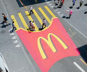 McDonalds, street, and food image
