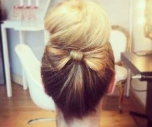 blond, chignon, and noeud image