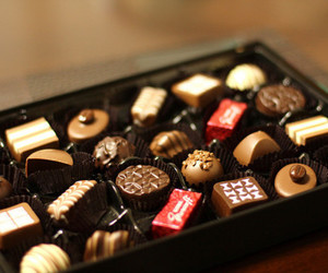 gift box and selection chocolates image