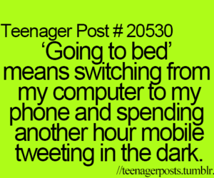 teenager post, computer, and phone image