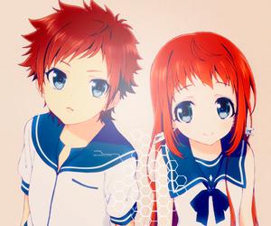 nagi no asukara, anime, and anime girl cute image