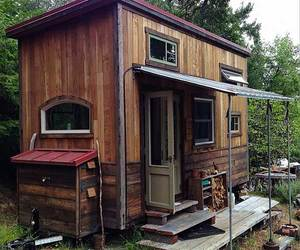 outside, sustainable, and tiny house living image