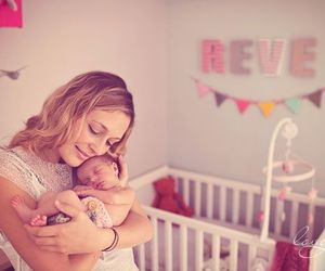 baby, dreams, and mom image