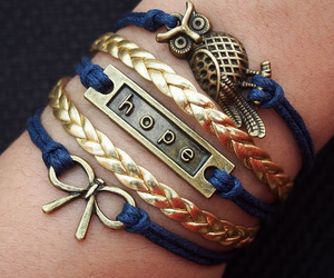 bracelet, hope, and accessories image
