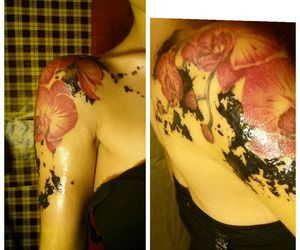 black, orchid, and half sleeve image