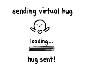 hug, cute, and virtual image