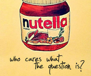 answer, nutella, and question image