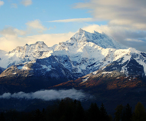 mountains, photography, and snow image