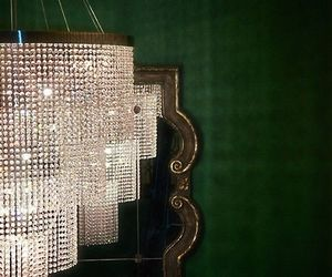 chandelier, glam, and green image
