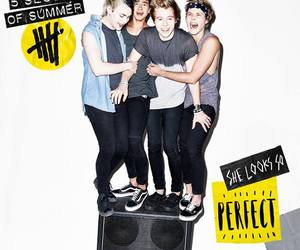 luke hemmings, 5 seconds of summer, and she looks so perfect image