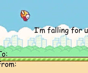 flappy bird, funny, and valentine image