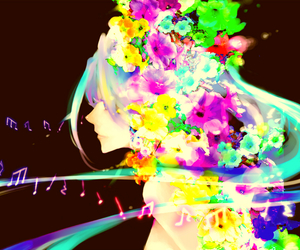 colors, flowers, and miku hatsune image