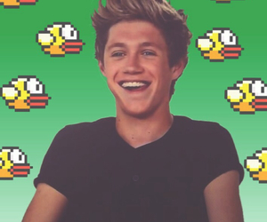 niall horan, flappy bird, and one direction image