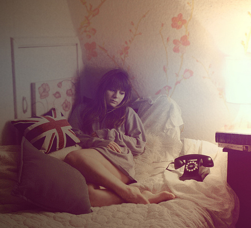 alone, antique, and bed image