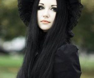 alternative, goth, and black hair image