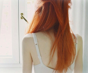 beautiful, ginger, and red image