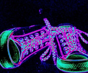neon, shoes, and converse image