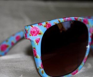 sunglasses, flowers, and floral image
