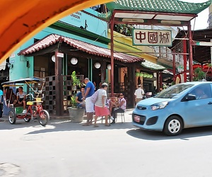 car, chinatown, and cosy image
