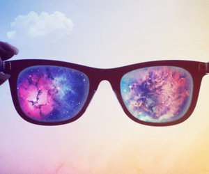 space, stars, and sunglasses image