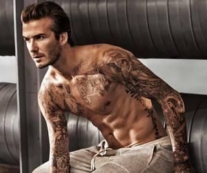 sexy, David Beckham, and tattoo image