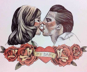 cry baby, johnny depp, and kiss image