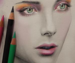 drawing, girl, and beautiful image