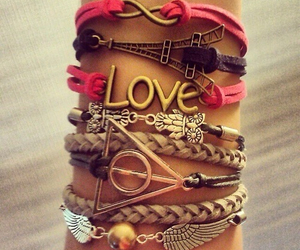 bracelet, love, and paris image
