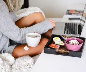 food, girl, and home image