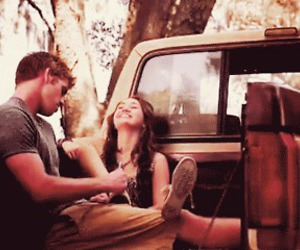 the last song, miley cyrus, and couple image
