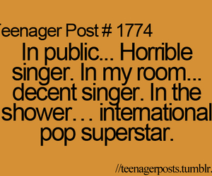 singer, funny, and sing image