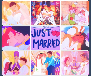 disney, couple, and just married image